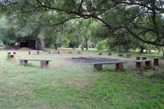 The campfire circle